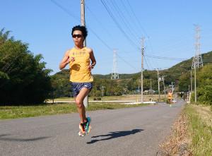 千葉合宿の単独30キロ走で安定した走りを見せた青学大の吉田圭太