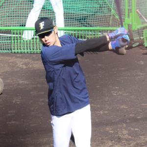 千葉・鎌ケ谷スタジアムでの秋季練習に参加し、打撃練習を行う日本ハム・大田泰示外野手
