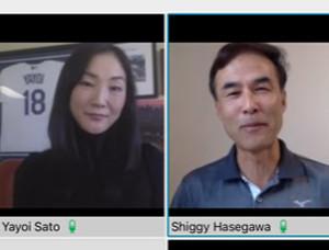 トークイベントで英会話術を語る佐藤弥生氏と長谷川滋利氏