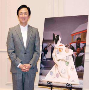 初春特別舞踊公演に向け意気込みを語った坂東玉三郎