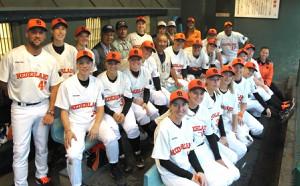 嬉野市で事前キャンプを行った女子野球オランダ代表チーム(2014年、嬉野市提供)
