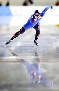 女子1000メートルで優勝した高木美帆(代表撮影)