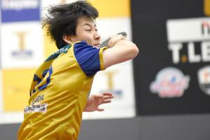 今季2連勝とした彩たま・英田理志(Tリーグ提供)