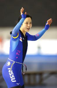 女子1500メートルで優勝した高木美帆(代表撮影)