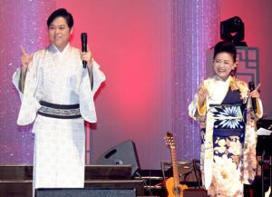 都内で恒例の「いい夫婦の日」コンサートを行った松前ひろ子、三山ひろし