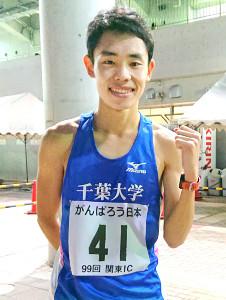 関東学生対校男子5000メートルで全体3位と健闘した今江勇人