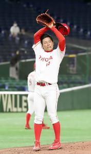 2回1死一塁、セガサミー・北阪に2ランを浴びたトヨタ自動車・栗林