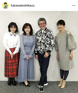 (左から)浅香唯、松本明子、布川敏和、森尾由美=布川のインスタグラム(@fukawatoshikazu)より=