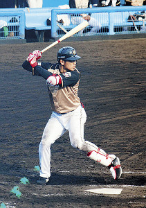 フェニックス・リーグ西武戦で2安打を放った日本ハム・野村