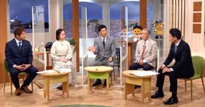 サンテレビに出演した阪神・矢野燿大監督(中)(阪神タイガース提供)