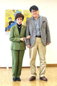 朗読劇「ななしのルーシー」に出演する浅丘ルリ子と六角精児