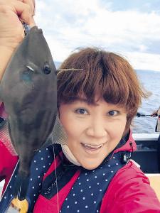 能登島沖でウマヅラハギを釣った邦ちゃん