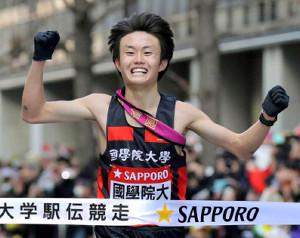 前回の箱根駅伝で、3位でゴールした国学院大10区・殿地琢朗