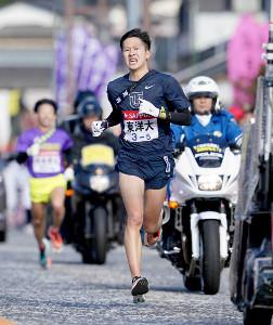 1月、箱根駅伝の5区を力走する東洋大・宮下