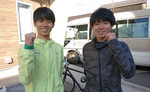 箱根駅伝5区出陣を希望する青学大の竹石尚人(左)。右は岩見秀哉