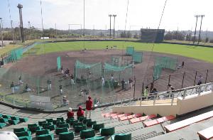 楽天の1軍キャンプが行われる金武町ベースボールスタジアム