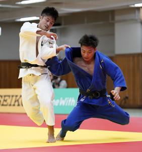 五輪代表を競い合った丸山城志郎(左)と阿部一二三