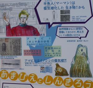 妖怪「アマビエ」の正体はイノシシの蜃気楼という仮説展示