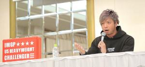 昨年12月23日の東京D大会出場選手会見で、やっと実現したIWGP USヘビー挑戦権利証争奪戦について本音を明かしたKENTA