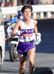 2区を走った駒大・田沢