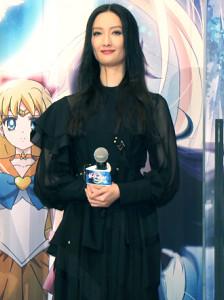 劇場版アニメ「美少女戦士セーラームーンEternal」公開直前プレミアイベントに登壇した菜々緒