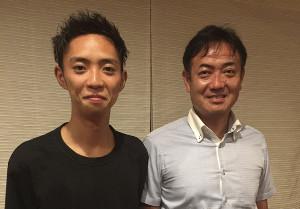 箱根駅伝を戦い抜いた松葉和之さん(右)・慶太親子(写真提供=松葉家)
