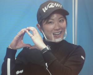 本間ゴルフのオンライン会見に登場した成田美寿々