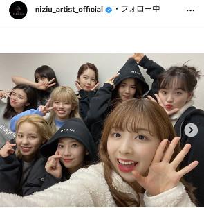 NiziUの公式インスタグラム(@niziu_artist_official)より