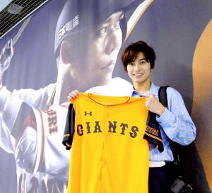 18年10月に「月刊ジャイアンツ」の特集で東京ドームを訪れた武田航平