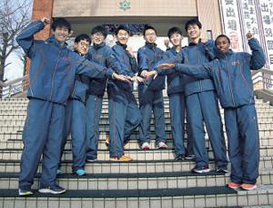 大学での健闘を誓う札幌山の手駅伝チーム3年生部員
