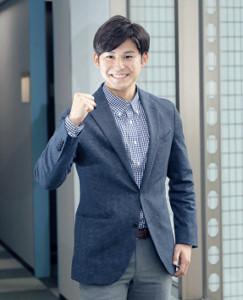 夢はサッカー実況、TBS・齋藤慎太郎アナウンサーは意気込みを語った(カメラ・越川 亘)