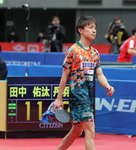 準々決勝で敗退した丹羽孝希