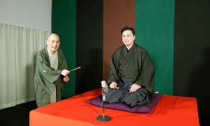 ゲストの松本幸四郎(右)と対談した春風亭一之輔(松竹提供)