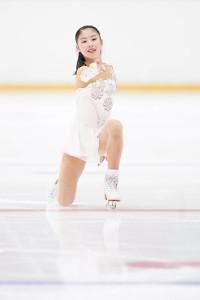 女子予選SPのA組で演技する住吉りをん(カメラ・矢口 亨)