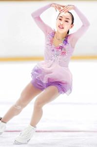 女子予選SPのA組で演技する松生理乃(カメラ・矢口 亨)