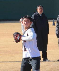 キャンプ1軍スタートが決定した巨人・平内龍太投手