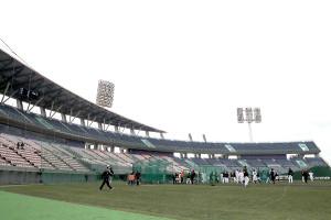 昨年2月、無観客で行われた宮崎の巨人2軍キャンプ