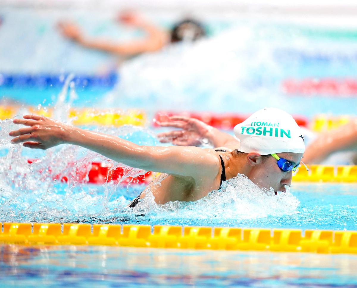女子400メートル個人メドレー決勝、優勝した大橋悠依(代表撮影)