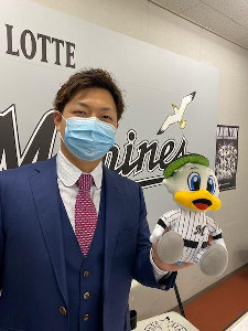 FA宣言した松永は残留を表明した(球団提供)