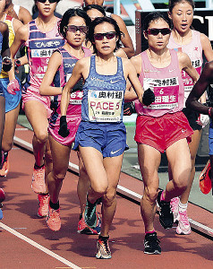 2020年1月の大阪国際女子マラソンではペースメーカーを務めた萩原歩美