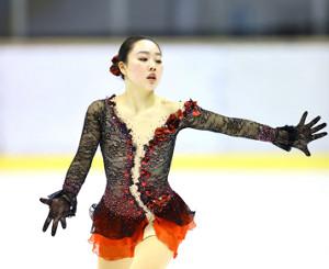 成年女子フリーで演技する樋口新葉(代表撮影)