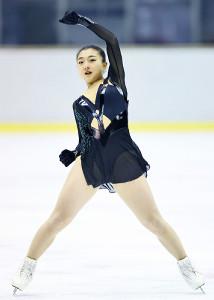 成年女子フリーで演技する坂本花織(代表撮影)
