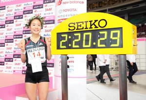 2020年3月8日の名古屋ウィメンズマラソンで優勝した一山麻緒