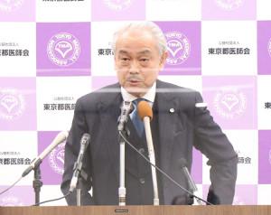 東京都医師会の尾崎治夫会長
