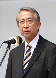 日本陸連の横川浩会長