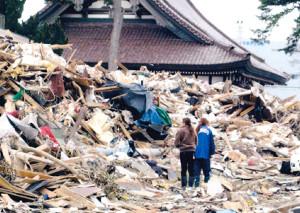 たい平が撮影した震災1か月後の石巻市内(本人提供))