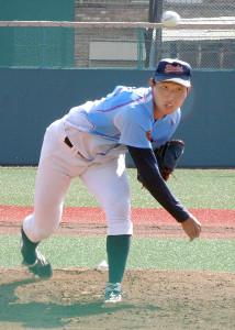 ENEOSとのオープン戦に先発した横浜商大のドラフト候補右腕・飯田