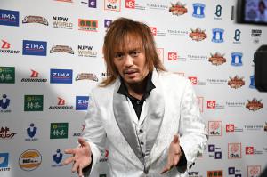 25日の後楽園ホール大会でのリング復帰を約束した内藤哲也(新日本プロレス提供)