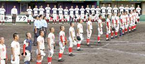 昨年、近畿大会の決勝、智弁学園(手前)が大阪桐蔭を下して優勝した