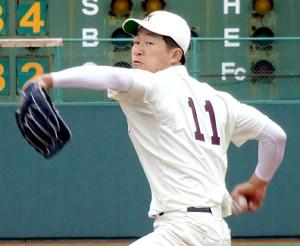 早大のエースナンバー「11」を着けて今季初の対外試合に登板した徳山
